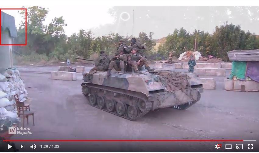 Luhanskregionen, en rysk T-90A-stridsvagn