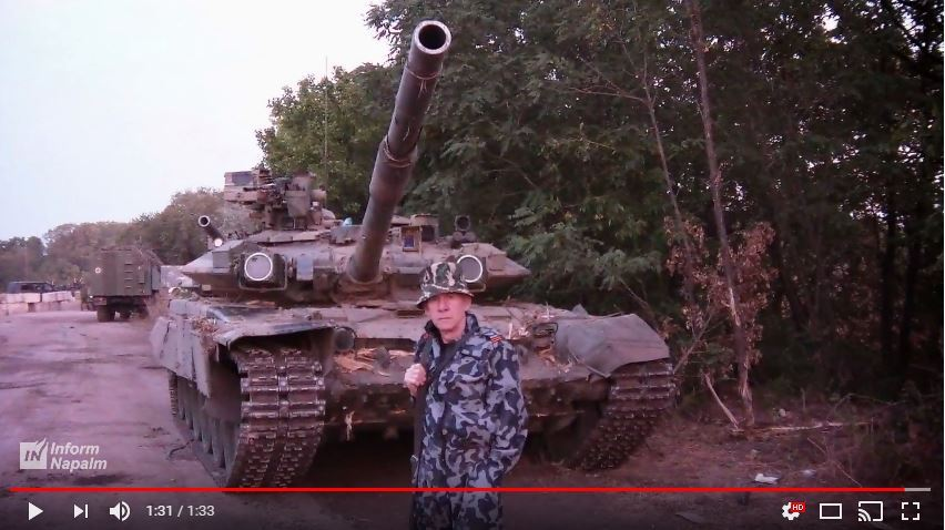 En rysk stridsvagn