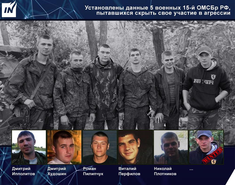 Ryska MekIB 15-soldater som döljer sitt deltagande i kriget mot Ukraina
