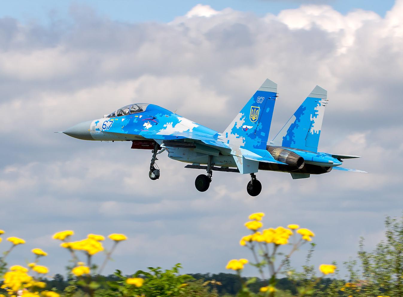 SU-27UB vid Ukrainas flygvapen