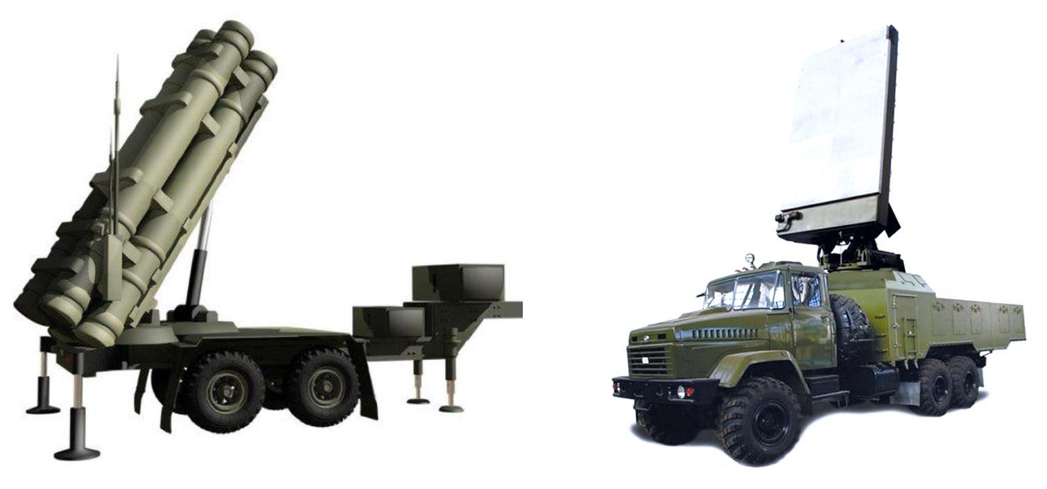 Пусковая установка и антенный пост ЗРК «Днепр»