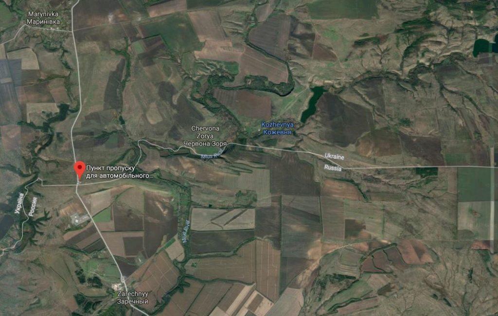 Hutir Kozhevnya er beliggende i Donetsk-regionen