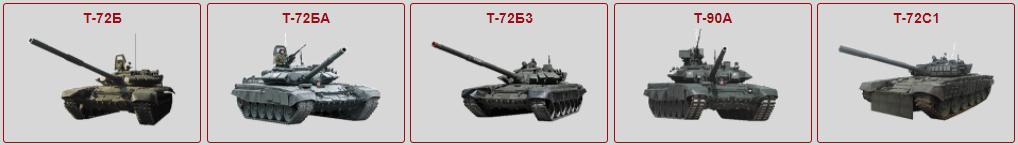 Russiske stridsvogner i kamp i Donbas