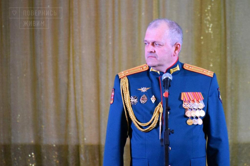 Överste Fominykh, befälhavare för den 152:a ryska logistikbrigaden