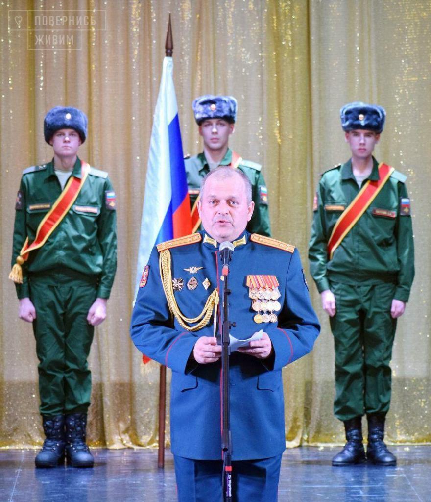 Överste Fominykh, befälhavare för den 152:a logistikbrigaden