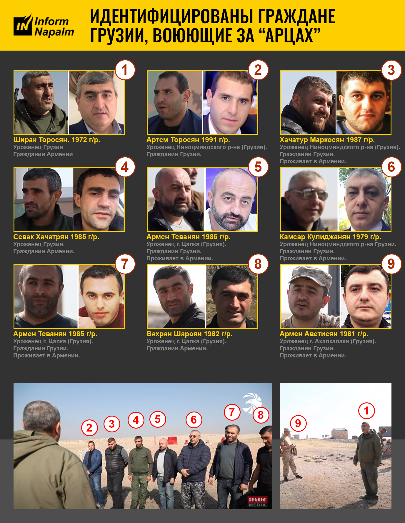 """Georgiska medborgare som kämpar för """"Artsakh"""""""