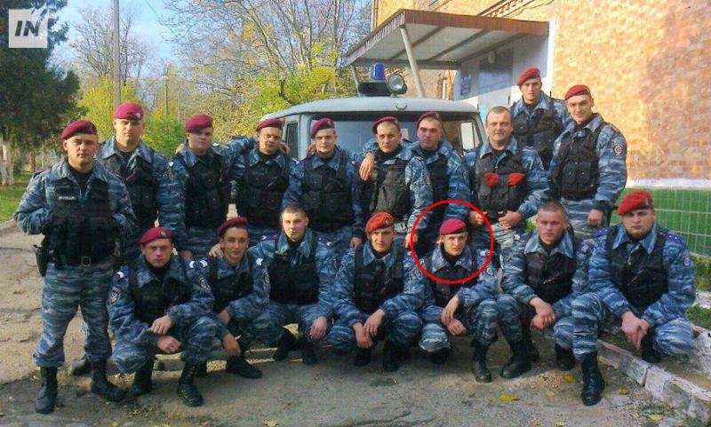 Volodymyr Didyk med kolleger fra Berkut Mykolaiv