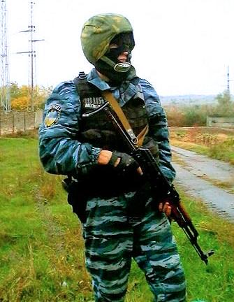Volodymyr Didyk i Berkuts kamputstyr