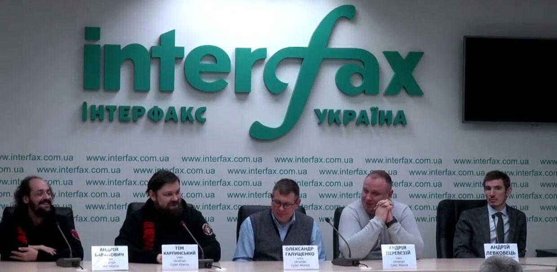 Presskonferens med Ukrainas Cyberallians